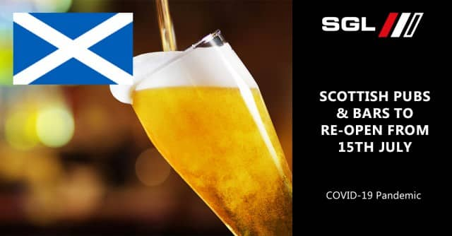 Scottish Pubs and Bars to Re-open from 15th July